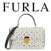 FURLA Star Casual Style Street Style 2WAY Leather Handbags