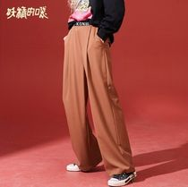 ELF SACK Casual Style Street Style Long Bottoms