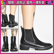 DOLLS KILL Casual Style Faux Fur Plain Ankle & Booties Boots