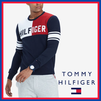 Tommy Hilfiger Knits & Sweaters Stripes Street Style Long Sleeves Cotton Knits & Sweaters