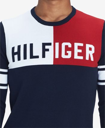 Tommy Hilfiger Knits & Sweaters Stripes Street Style Long Sleeves Cotton Knits & Sweaters 3
