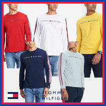 Tommy Hilfiger Crew Neck Street Style Long Sleeves Cotton Sweatshirts