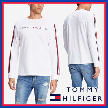 Tommy Hilfiger Sweatshirts Crew Neck Street Style Long Sleeves Cotton Sweatshirts 2