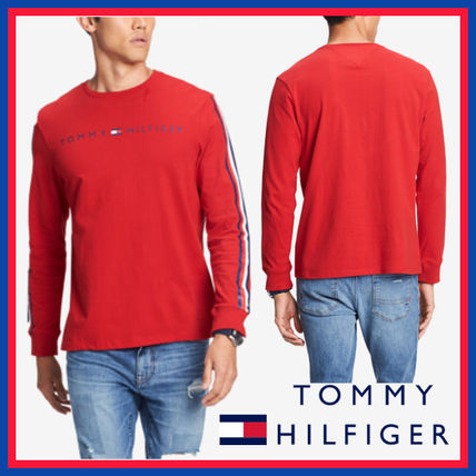 Tommy Hilfiger Sweatshirts Crew Neck Street Style Long Sleeves Cotton Sweatshirts 4