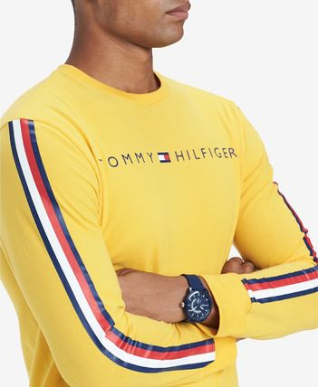 Tommy Hilfiger Sweatshirts Crew Neck Street Style Long Sleeves Cotton Sweatshirts 7