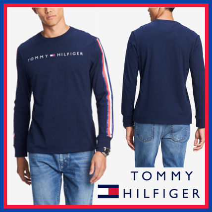 Tommy Hilfiger Sweatshirts Crew Neck Street Style Long Sleeves Cotton Sweatshirts 8