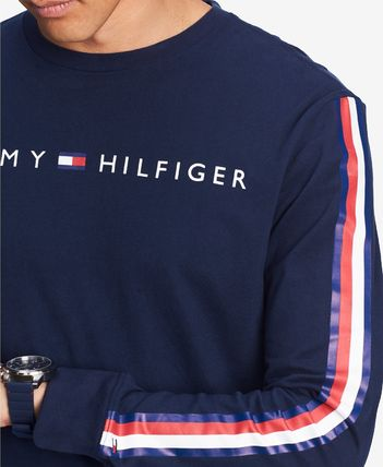 Tommy Hilfiger Sweatshirts Crew Neck Street Style Long Sleeves Cotton Sweatshirts 9