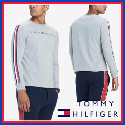 Tommy Hilfiger Sweatshirts Crew Neck Street Style Long Sleeves Cotton Sweatshirts 10