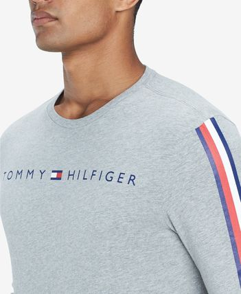 Tommy Hilfiger Sweatshirts Crew Neck Street Style Long Sleeves Cotton Sweatshirts 11