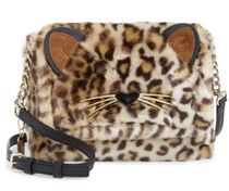 kate spade new york Leopard Patterns Casual Style Faux Fur Shoulder Bags