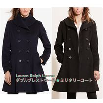 LAUREN RALPH LAUREN Casual Style Wool Plain Medium Peacoats