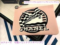 CHANEL Canvas Elegant Style Clutches