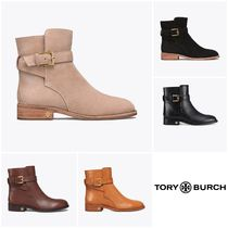 Tory Burch Casual Style Plain Leather Block Heels Ankle & Booties Boots