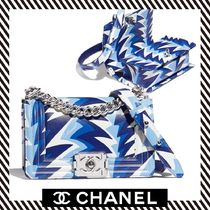 CHANEL BOY CHANEL Calfskin Handbags