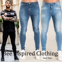 Bee Inspired Clothing Street Style Plain Cotton Skinny Fit Jeans & Denim