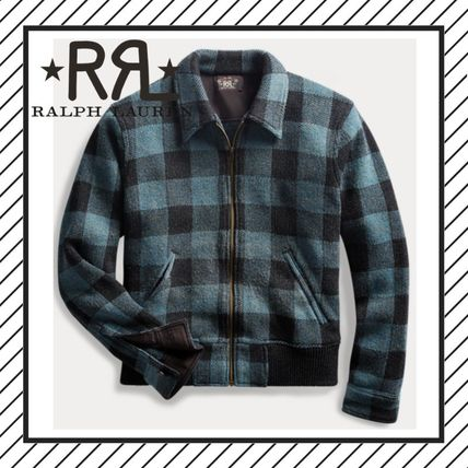 Short Other Check Patterns Wool Street Style Jackets