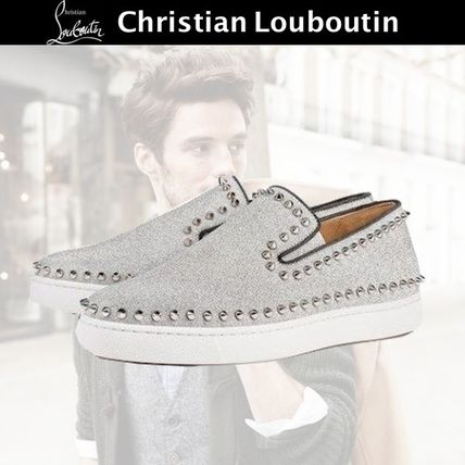dc3b286e9c5a Christian Louboutin 2017-18AW Studded Leather Loafers   Slip-ons by ...