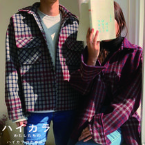 Other Check Patterns Casual Style Unisex Wool Long Sleeves