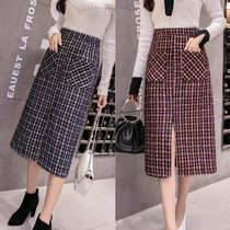 Pencil Skirts Zigzag Nylon Street Style Medium Midi Skirts