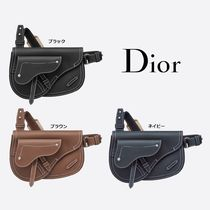 Christian Dior Calfskin Plain Hip Packs