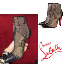 Christian Louboutin Flower Patterns Elegant Style Ankle & Booties Boots