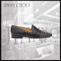 Jimmy Choo Leather Slip-On Shoes