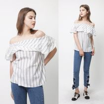 FIFI LAPIN Stripes Casual Style Sleeveless Street Style Collaboration