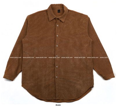 ASCLO Shirts Corduroy Street Style Collaboration Long Sleeves Plain 19