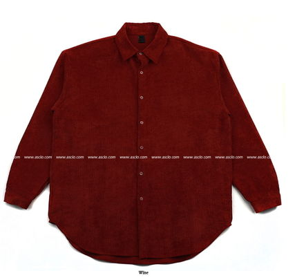 ASCLO Shirts Corduroy Street Style Collaboration Long Sleeves Plain 20