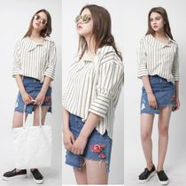 FIFI LAPIN Stripes Casual Style Street Style Collaboration Cropped