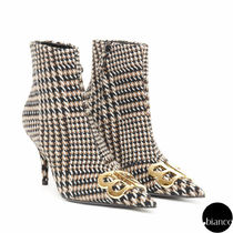 BALENCIAGA Other Check Patterns Elegant Style Ankle & Booties Boots