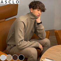 ASCLO Street Style Collaboration Long Sleeves Plain