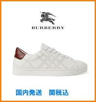Burberry Other Check Patterns Leather Sneakers