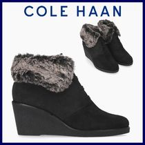 Cole Haan Plain Toe Suede Plain Wedge Boots