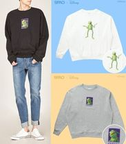 SPAO Unisex Street Style U-Neck Collaboration Long Sleeves Cotton