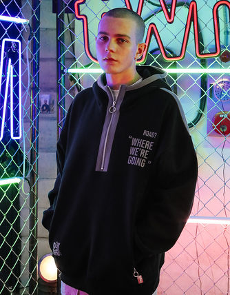TWN Hoodies Pullovers Unisex Street Style Long Sleeves Cotton Oversized 2