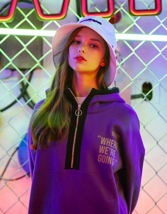 TWN Hoodies Pullovers Unisex Street Style Long Sleeves Cotton Oversized 4