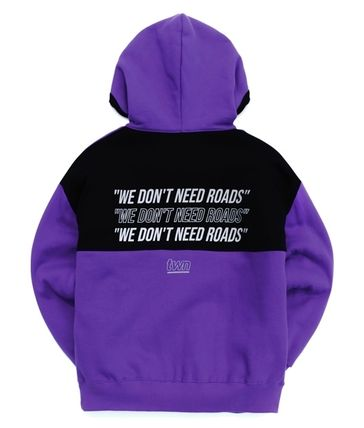 TWN Hoodies Pullovers Unisex Street Style Long Sleeves Cotton Oversized 15