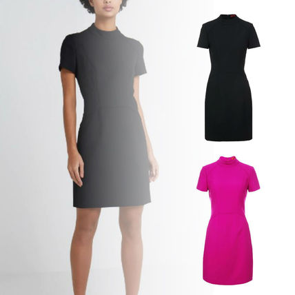 Plain Medium Short Sleeves Dresses