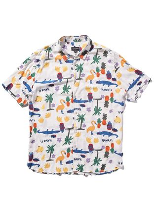 Tropical Patterns Street Style Short Sleeves Handmade Shirts