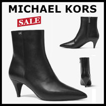 Michael Kors Plain Leather Office Style Ankle & Booties Boots