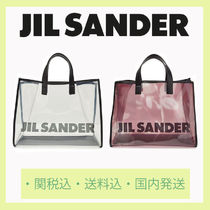 Jil Sander Casual Style Unisex Blended Fabrics Crystal Clear Bags