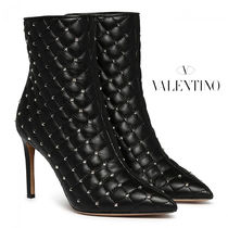 VALENTINO Casual Style Pin Heels Ankle & Booties Boots