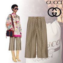 GUCCI Monogram Wool Medium Midi Office Style