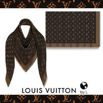 Louis Vuitton Monogram Blended Fabrics Fringes Elegant Style Accessories