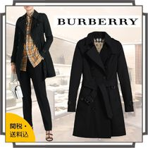 Burberry Other Check Patterns Casual Style Blended Fabrics Plain