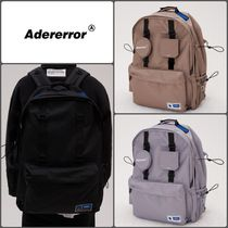 ADERERROR Unisex Street Style Plain Backpacks