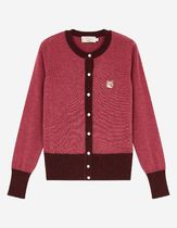 MAISON KITSUNE Short Casual Style Wool Long Sleeves Other Animal Patterns