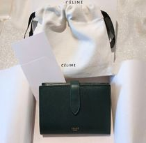 CELINE Strap Leather Folding Wallets