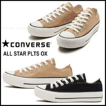 CONVERSE ALL STAR Platform Plain Toe Casual Style Street Style Plain